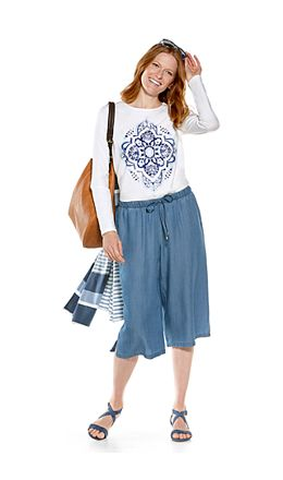 Everyday Graphic Tee & Enclave Culottes Outfit