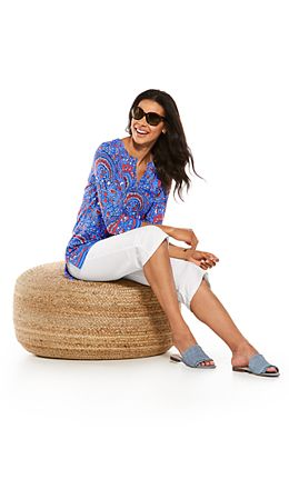 St. Lucia Tunic Top & Beach Capris Outfit