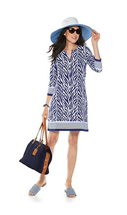Marissa Reversible Beach Hat & Oceanside Tunic Dress Outfit