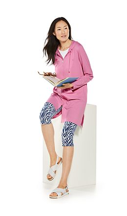 Cabana Hoodie & Monterey Summer Capris Outfit