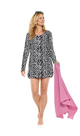 Seacoast Swim Cover-Up Dress & Savannah Sun Blanket Outfit