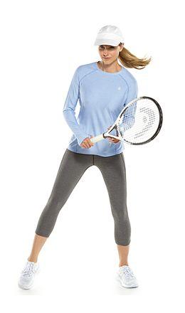 Devi L/S Fitness Tee & High-Rise Asana Yoga Capris Outfit