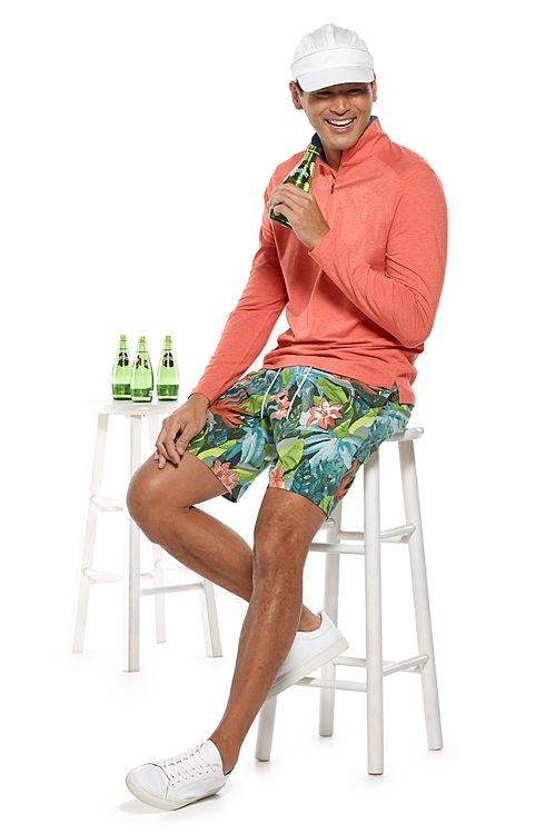 Sonora Quarter-Zip & Island Swim Trunks Outfit