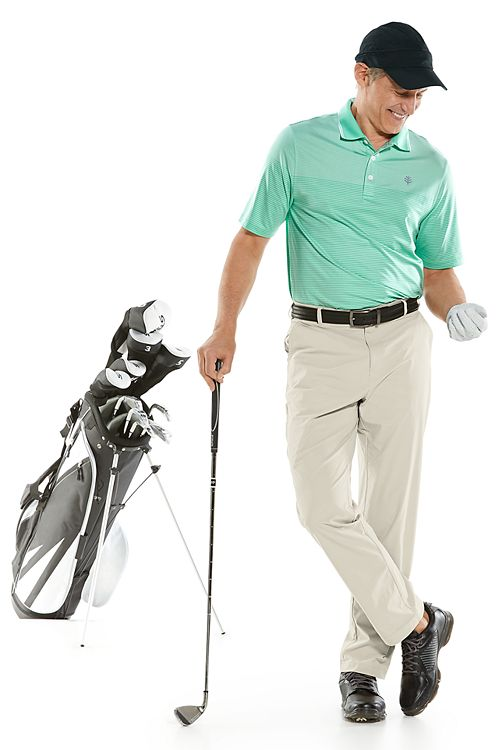 Erodym Short Sleeve Golf Polo & Marco Summer Casual Pants Outfit