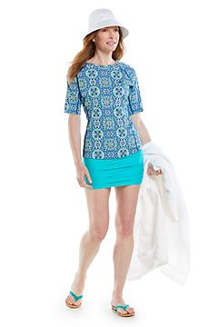 Hightide Short Sleeve Swim Shirt & Katia Cotton Bucket Hat Oufit