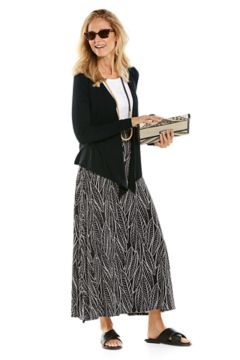 Vrae Everyday Fashion Wrap & Fabyan Maxi Skirt Outfit in look we love shot