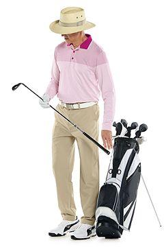 Erodym Long Sleeve Golf Polo & Avalos Travel Pants Outfit