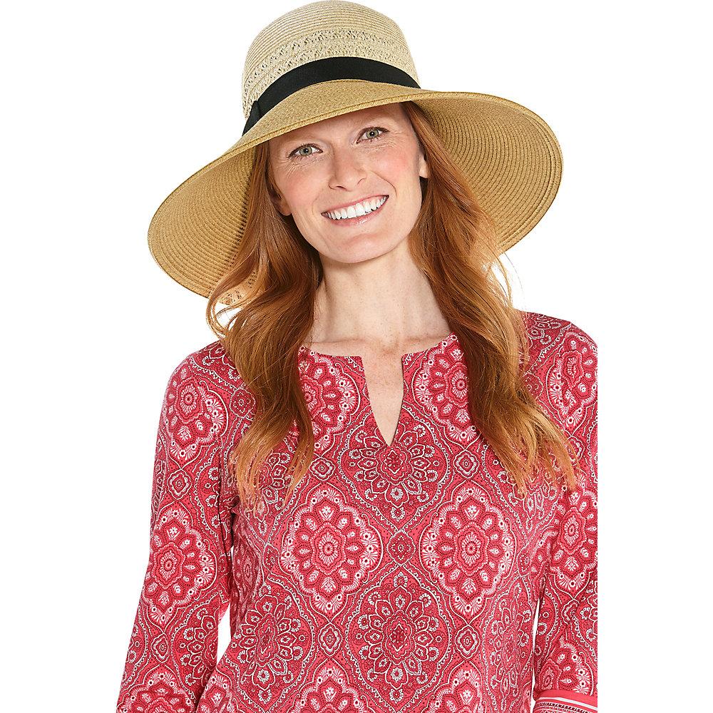 d0443b9b Coolibar UPF 50+ Women's Shannon Wide Brim Beach Hat 849201096432 | eBay