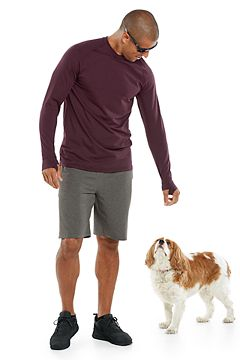 LumaLeo Long Sleeve T-Shirt & Newport Saturday Lounge Shorts Outfit
